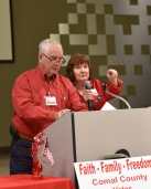 Don Johnson and Sue Piner keep Comal County Republicans up to date